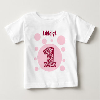 1st Birthday Camo and Bubbles One Year Old V14C Baby T-Shirt