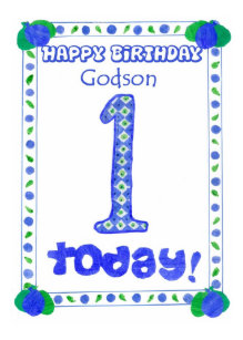 Godson cards invitations zazzle 1st birthday card for a boy godson bookmarktalkfo Images