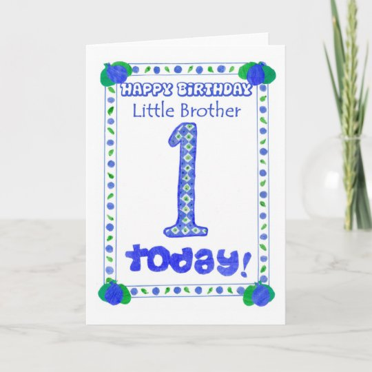 1st Birthday Card For A Little Brother