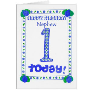 Baby nephew cards invitations zazzle 1st birthday card for a nephew bookmarktalkfo Images