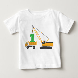 1st Birthday Construction Tee