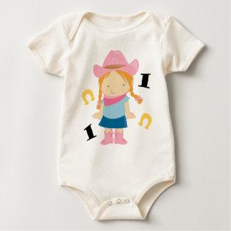 1st Birthday Cowgirl Baby Bodysuit
