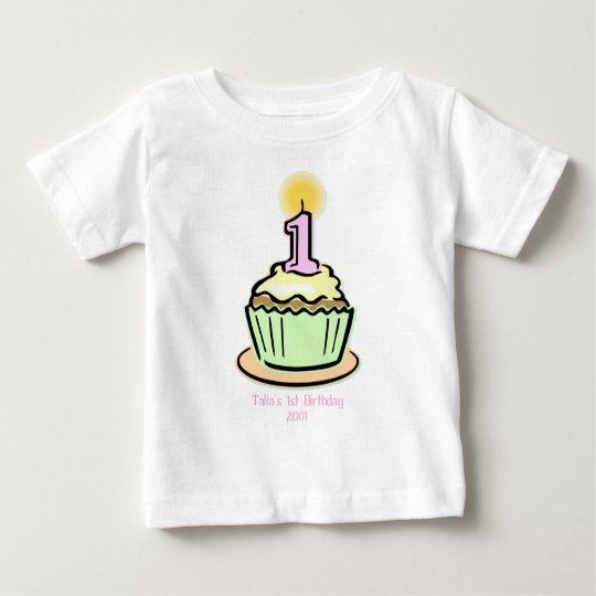 1st Birthday - Cupcake Baby T-Shirt