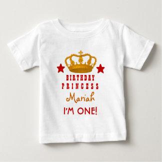 1st Birthday Custom Name Crown and Stars W03E T-shirt