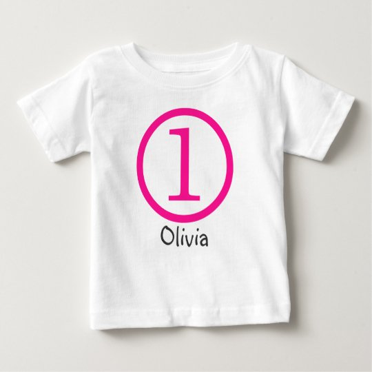 1st Birthday Customisable T-Shirt Girl