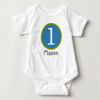 1st Birthday Customizable T-Shirt Boy