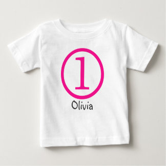 1st Birthday Customizable T-Shirt Girl