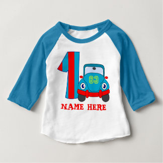 1st Birthday, cute cat Baby T-Shirt