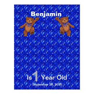 1st Birthday Dancing Bear Scrapbook Paper 1 Flyers