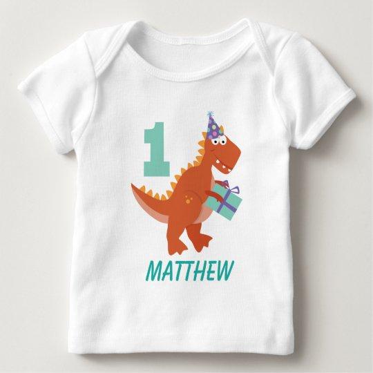 1st Birthday Dinosaur Personalised T-shirt