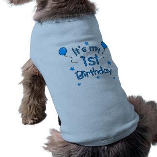 1st Birthday Dog Sleeveless Dog Shirt