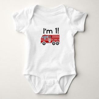 1st Birthday Fire Engine Tee Shirt