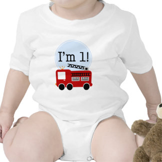 1st Birthday Fire Truck Shirt