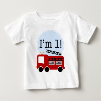 1st Birthday Fire Truck T-shirt