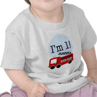1st Birthday Fire Truck Shirts