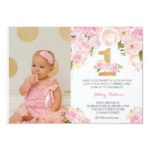 first birthday invite