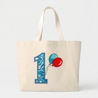 1st Birthday Floral and Balloons Bag