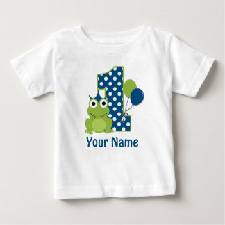 1st Birthday Frog Personalized Shirt