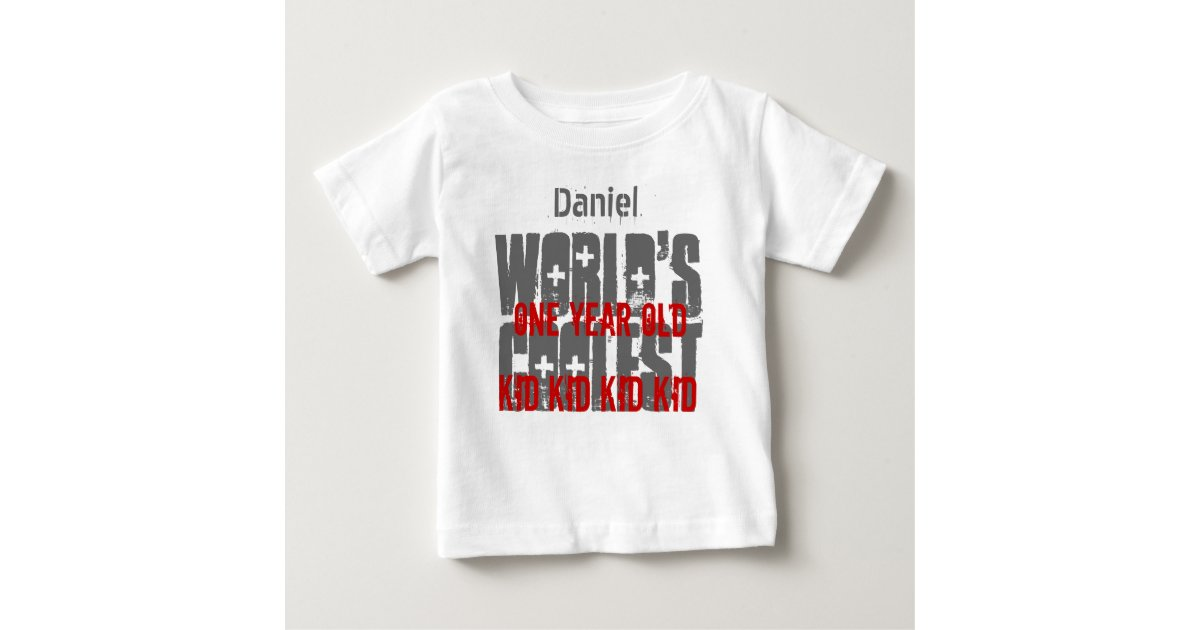 1st Birthday Gift Worlds Coolest 1 Year Old W01A Baby T Shirt