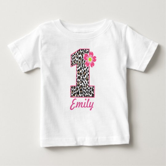 1st Birthday Girl Hot Pink & leopard print