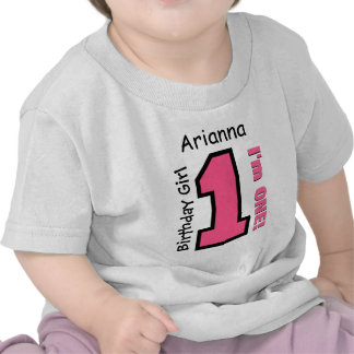1st Birthday Girl PINK One Year Custom Name V007E Tshirt