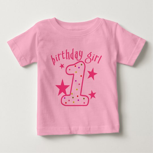 1st Birthday Girl Stars Baby T-Shirt