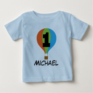 1st Birthday Hot Air Balloon Boys T-shirt