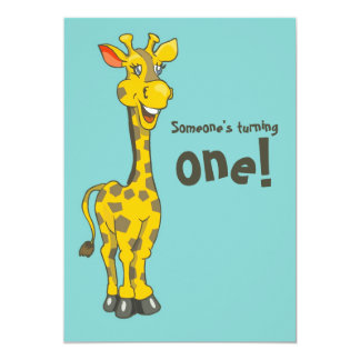"1st Birthday Invitation 5"" X 7"" Invitation Card"