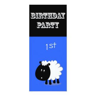 1st Birthday Invitation - Little Sheep