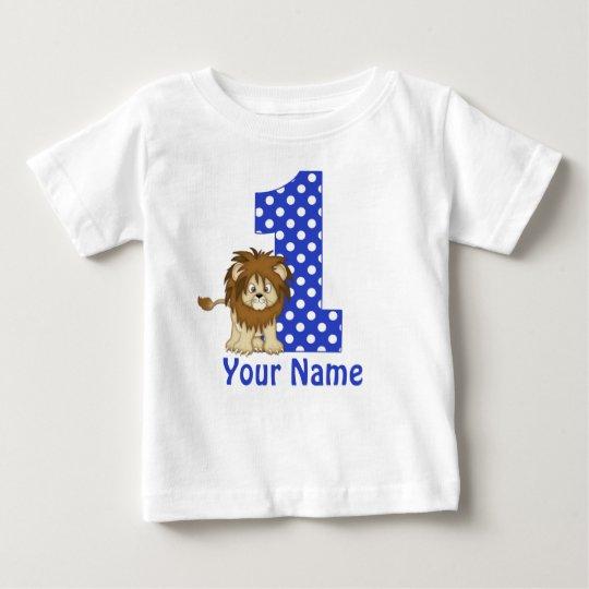 1st Birthday Lion Blue Personalised Shirt
