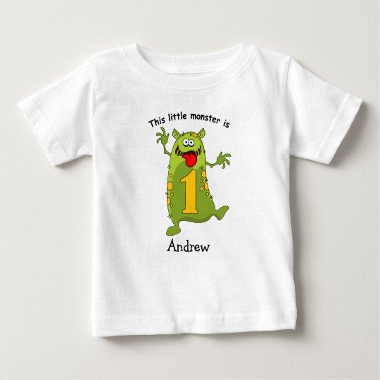 1st Birthday Little Monster Baby T-Shirt