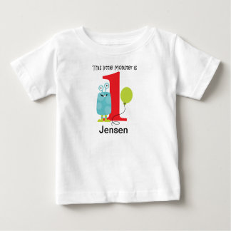1st Birthday Little Monster Blue Baby T-Shirt