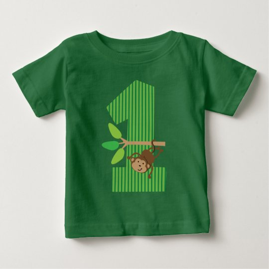 1st Birthday Monkey Number One T-shirt