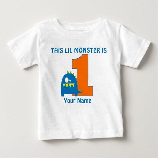 1st Birthday Monster Personalised T Shirt