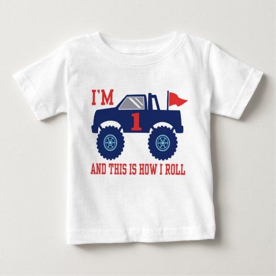 1st Birthday Monster Truck Baby T-Shirt