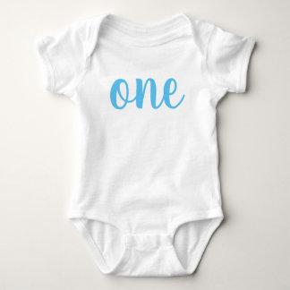 1st Birthday One Baby Bodysuit Blue