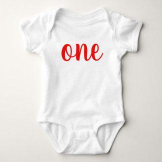 1st Birthday One Baby Bodysuit red