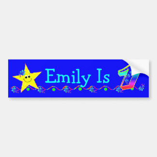 1st Birthday Party Smiley Stars Bumper Stickers