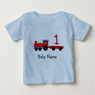 1st Birthday Personalized Train T-Shirt