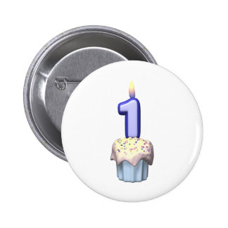 1st Birthday Pinback Buttons