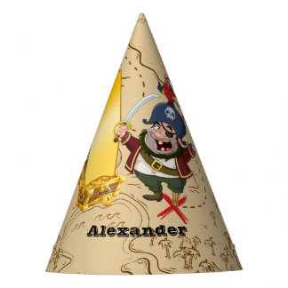 1st Birthday Pirate Treasure Map Party Hat