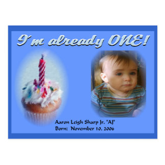 1st Birthday Postcard
