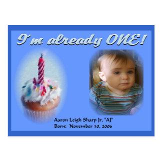 1st Birthday Post Card