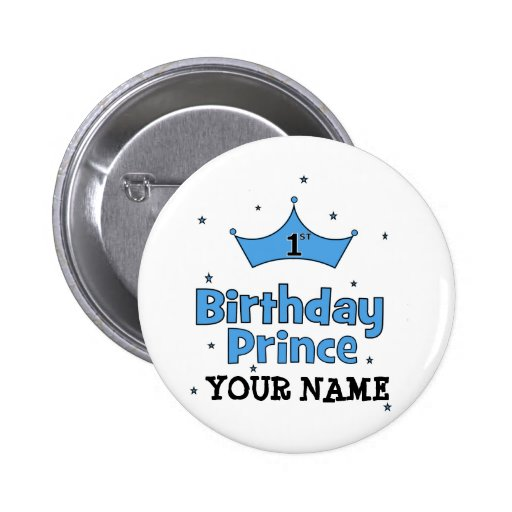 1st Birthday Prince Pins