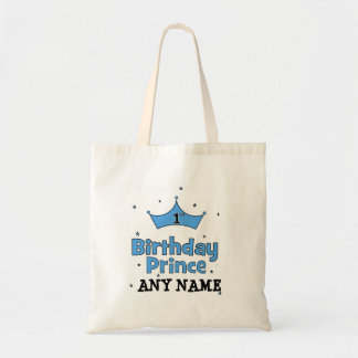 1st Birthday Prince Canvas Bags