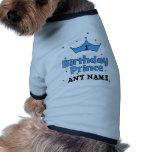 1st Birthday Prince Dog T Shirt