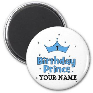 1st Birthday Prince Fridge Magnet