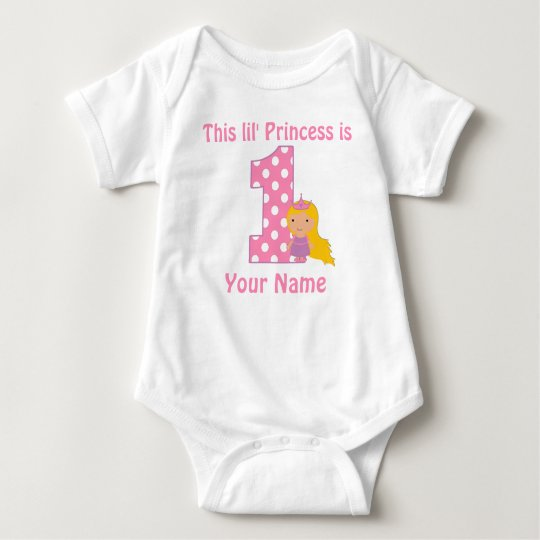 1st Birthday Princess Girls Personalised Shirt