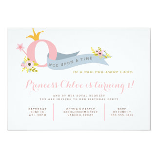 1st Birthday Princess Party Invitation