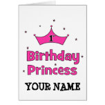 1st Birthday Princess!  with pink crown